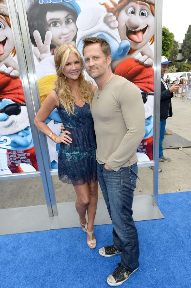 "TV personality Nancy O'Dell (L) and Keith Zubulevich attend the Los Angeles premiere of ""The Smurfs 2"" at Regency Village Theatre on July 28, 2013 in Westwood, California.  (Photo by Michael Buckner/Getty Images for SONY) Photo: Michael Buckner"