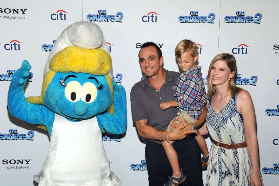 "Hank Azaria Hank, Hal Azaria and Katie Wright attend ""The Smurfs 2"" New York Blue Carpet Screening at Lighthouse International Theater on July 28, 2013 in New York City.  (Photo by Craig Barritt/Getty Images) Photo: Craig Barritt, Getty Images"