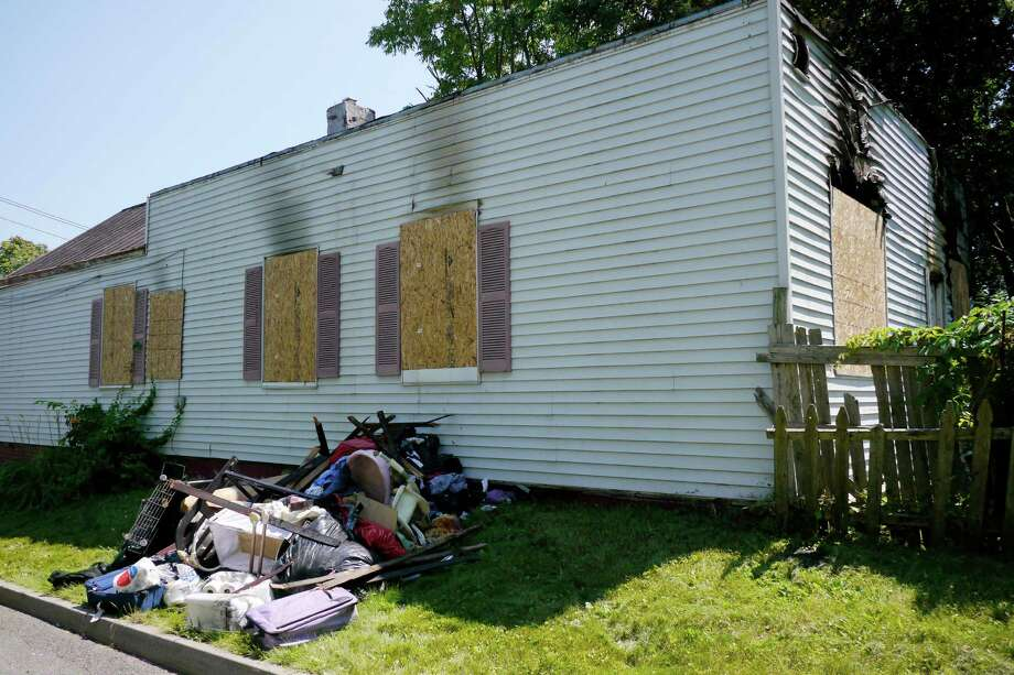 A view of the home at 278 Livingston Ave. Monday, July 29, 2013, in Albany, N.Y.  Fire broke out in the rear of the home on Sunday. (Paul Buckowski / Times Union) Photo: Paul Buckowski / 00023332A