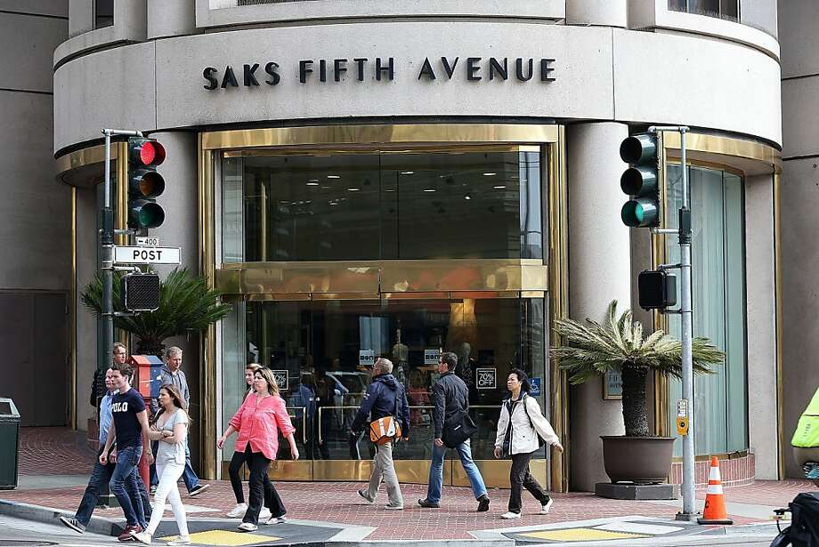 The Saks Fifth Avenue store in San Francisco is included in the sale of the retailer to Hudson's Bay Co. Photo: Justin Sullivan, Getty Images