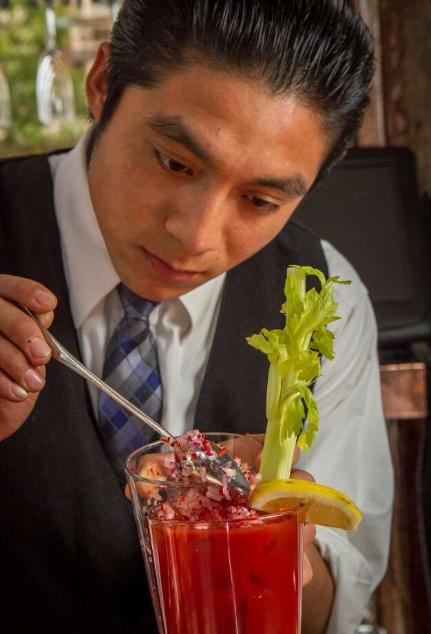 Top glass with ice and garnish with Zuni bar salsa. Photo: John Storey, Special To The Chronicle