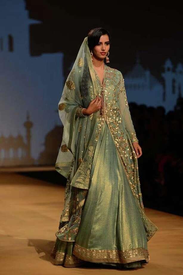 MUMBAI, INDIA  JULY 27: A model walks the ramp for Ashima and Leena at Aamby Valley India Bridal Fashion Week 2013(Photo by Ramesh Sharma/India Today Group/Getty Images) Photo: The India Today Group, India Today Group/Getty Images / Living Media India Limited