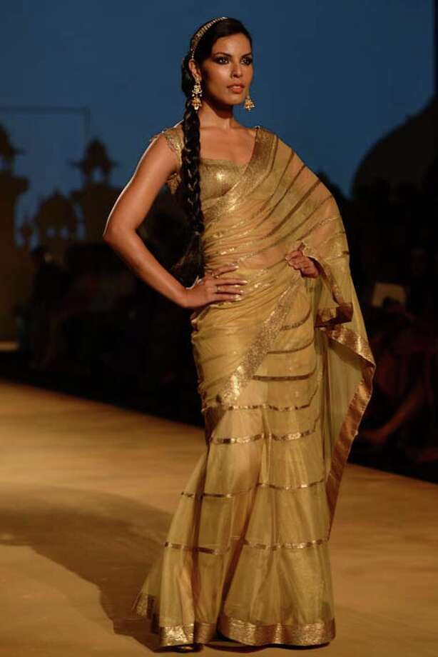 MUMBAI, INDIA  JULY 27: A modal walks the ramp for Ashima and Leena at Aamby Valley India Bridal Fashion Week 2013(Photo by Ramesh Sharma/India Today Group/Getty Images) Photo: The India Today Group, India Today Group/Getty Images / Living Media India Limited