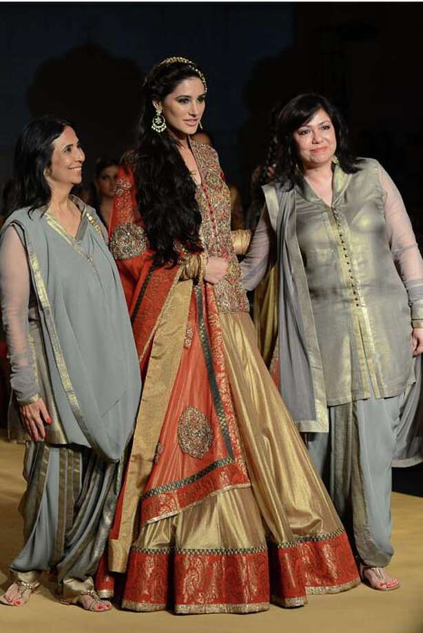 MUMBAI, INDIA  JULY 27: Nargis Fakhri walks the ramp for Ashima and Leena at Aamby Valley India Bridal Fashion Week 2013.(Photo by Ramesh Sharma/ India Today Group/Getty Images) Photo: The India Today Group, India Today Group/Getty Images / Living Media India Limited