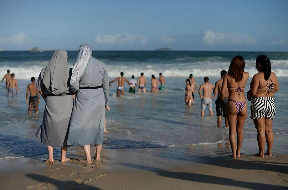 Sisters by the sea: Two Polish nuns in Rio de Janeiro for Pope Francis' visit throw 