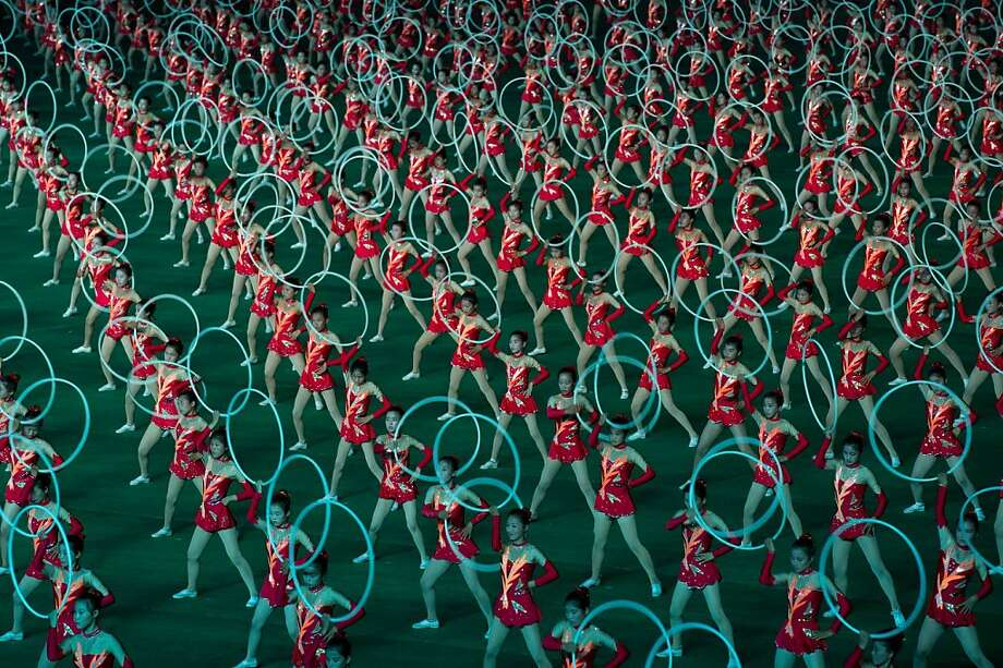 Hoops I did it again: In addition to the pyrotechnics, North Korea also celebrated the end of the Korean War 