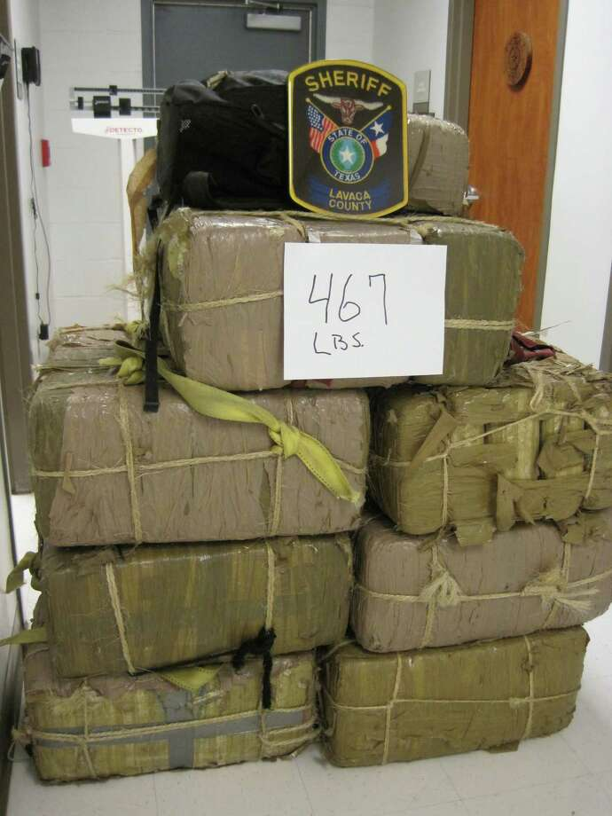 A weekend traffic stop in Lavaca County resulted in the seizure of 467 pounds of marijuana with an estimated street value of $327,000. Photo: Lavaca County Sheriff's Office