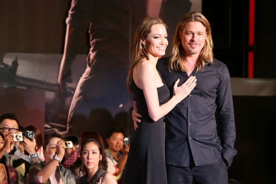 Actress Angelina Jolie and actor Brad Pitt attend the 'World War Z' Japan Premiere at Roppongi Hills on July 29, 2013 in Tokyo, Japan. The film will open on August 10 in Japan.  (Photo by Ken Ishii/Getty Images for Paramount Pictures) Photo: Ken Ishii