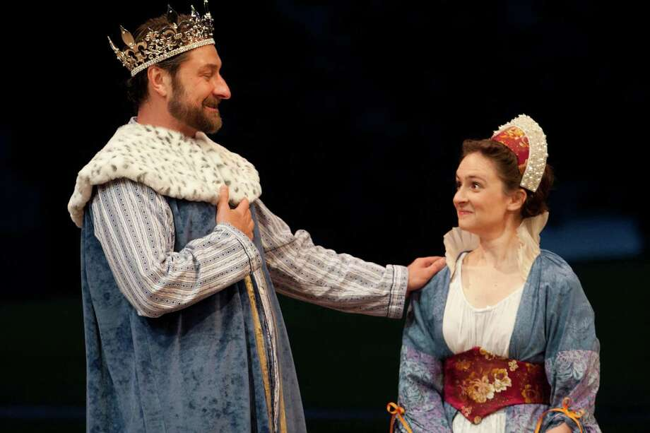 "The Hudson Valley Shakespeare Festival production of ""All's Well That Ends Well"" will be presented free of charge by the Ridgefield Playhouse in a tent on the green adjacent to the theater on August 10 at 2 p.m. Richard Ercole and Jessica Frey are featured in the touring production. Photo: Contributed Photo / Connecticut Post Contributed"