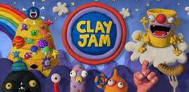 """Clay Jam"" was created by Fat Pebble of Brighton, England, and is published by Zynga. The game features a rolling clay ball that flattens foes while dodging obstacles."
