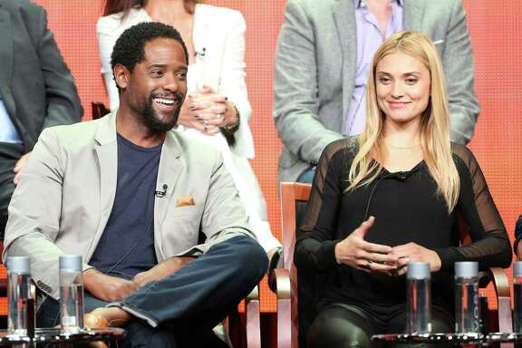 "Blair Underwood, left, and Spencer Grammer star in the NBC fall drama ""Ironside."""
