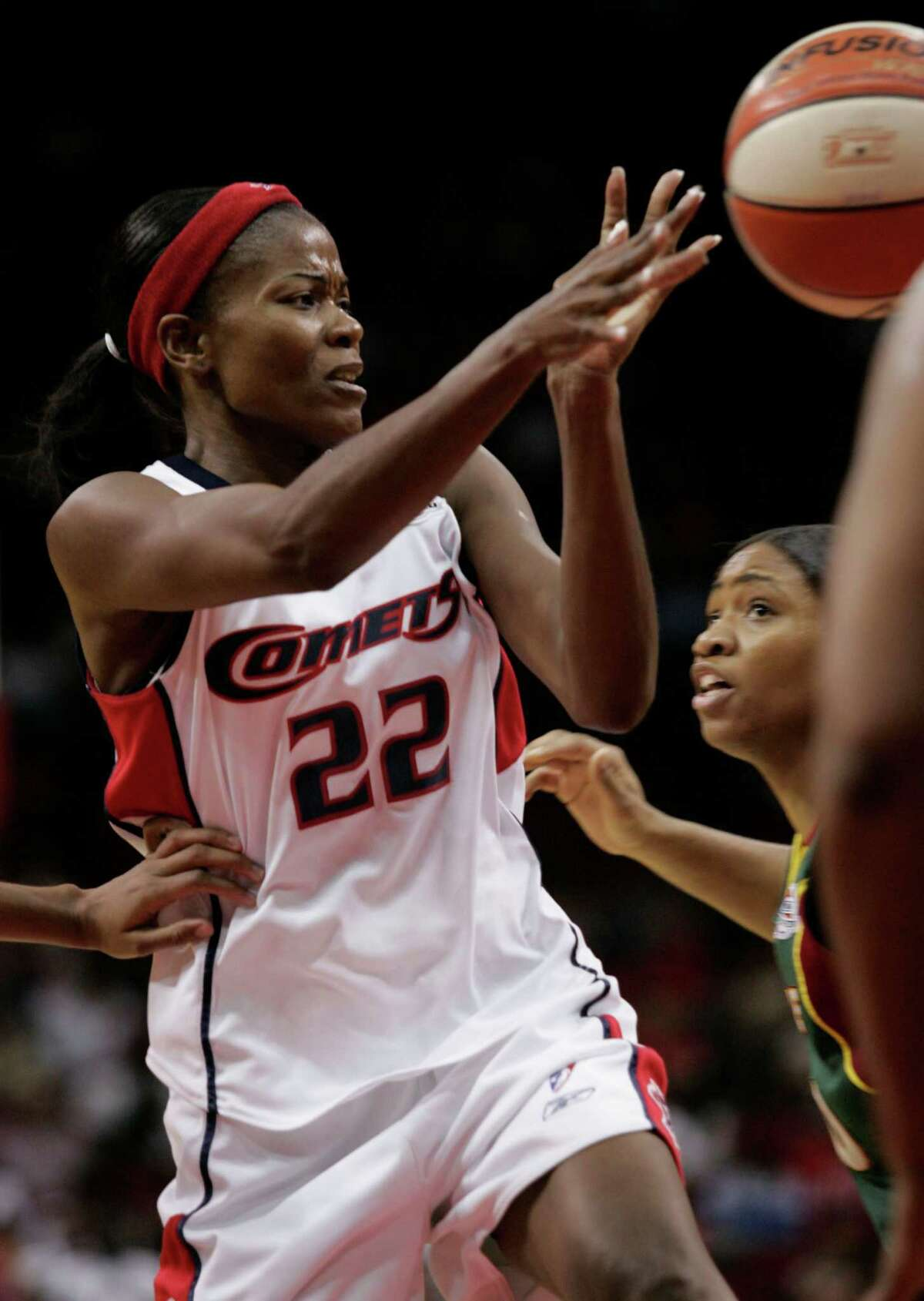 Sheryl Swoopes (in 2006) led the Houston Comets to four WNBA championships.
