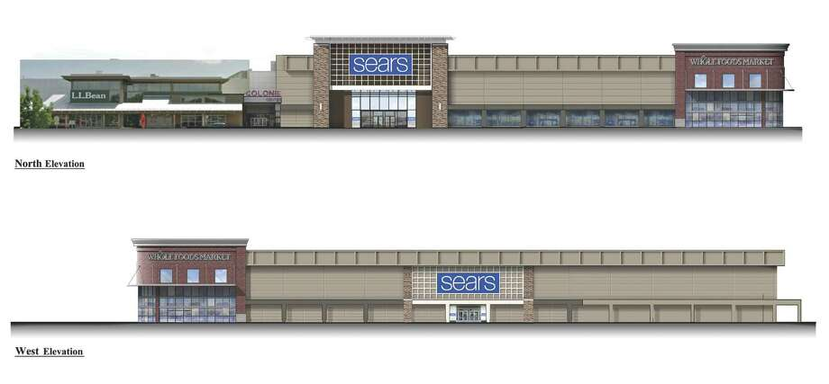 Illustrations of the new exterior of Sears and Whole Foods at Colonie Center in Colonie, N.Y. July 29, 2013 (Sears)