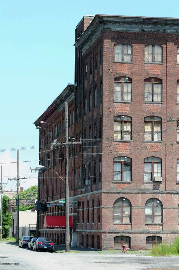 Lovely River Street Building Which Houses The Old Brick Furniture Store Monday,  July 29, 2013