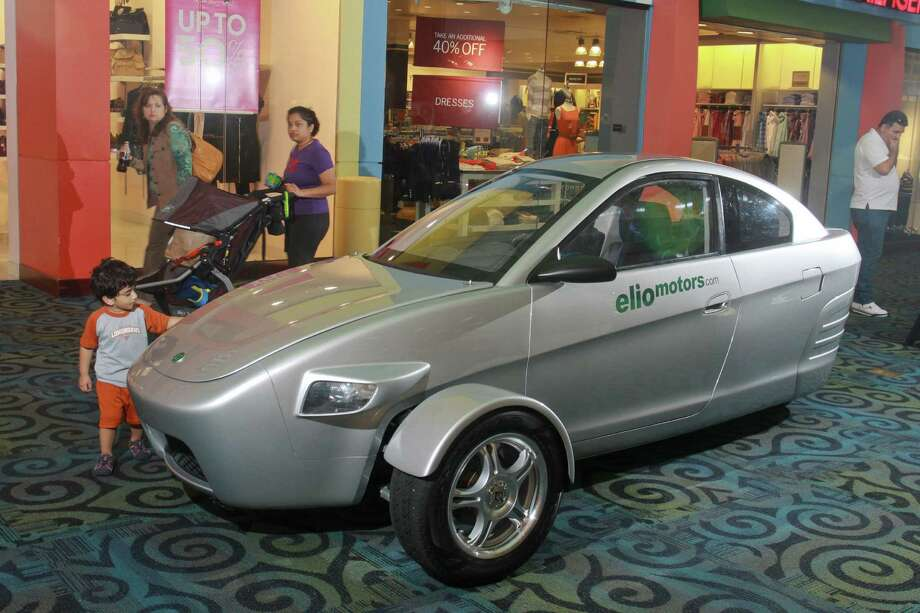 The Elio, which is said to reach a speed of up to 100 mph, claims efficiency of 84 mpg on the highway and 49 in the city. Photo: Photos By Gary Fountain / For The Houston Chronicle