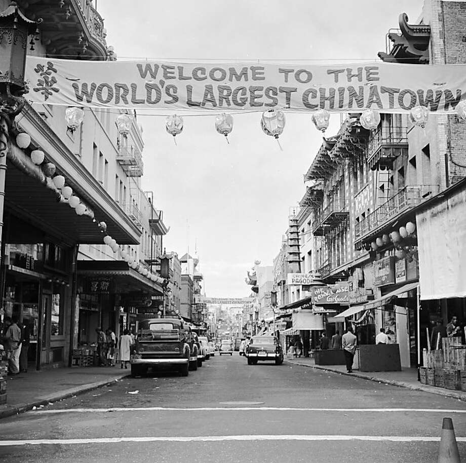 A banner on Grant Street, San Francisco, welcomes visitors to Chinatown, with its hundreds of Chinese shops, restaurants and markets. Photo: Orlando, Getty Images