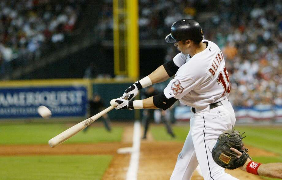 THE BESTJune 24, 2004:Astros acquire OF Carlos Beltran from the Royals for C John Buck. Astros also send RHP Octavio Dotel to Oakland in the three-team swap.  Buck was an OK catcher, but Beltran was sensational for the Astros in 2004. In 90 games with the Astros, he blasted 23 home runs and helped them reach the NLCS. In 12 postseason games that year, Beltran hit .435 with eight home runs. Photo: Stephen Dunn, Getty Images