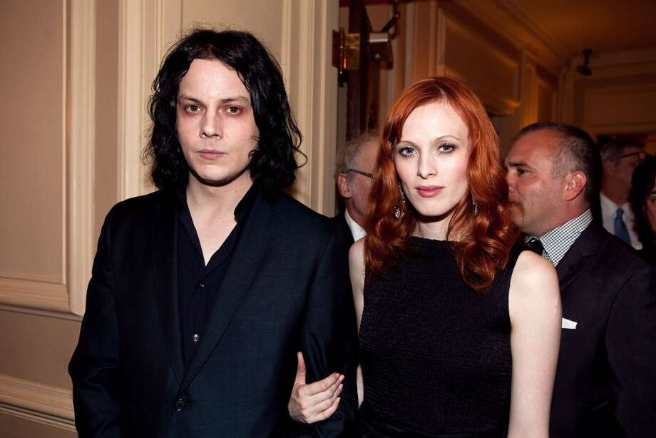 Jack White and model Karen Elson met when she appeared in the White Stripes video 'Blue Orchid.' They married in Brazil in 2005 (oh, White's ex Meg White was the maid of honor), settled in Nashville and divorced in 2011. They  ended their marriage with a 'divorce party.' Photo: Paul Morigi, WireImage
