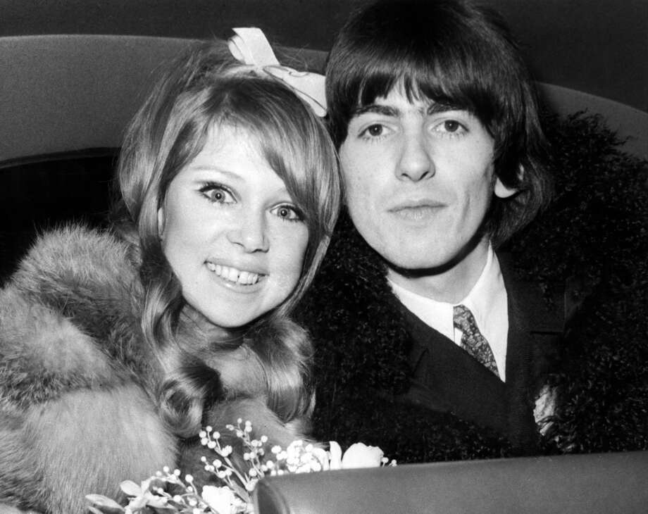 Model Pattie Boyd was the first wife of both Beatles star George Harrison (1966–77) and Eric Clapton (1979–89), and reportedly had an affair with Ronnie Wood.  She's rumored to be the inspiration for Clapton's song 'Layla.' Photo: Cummings Archives, Redferns