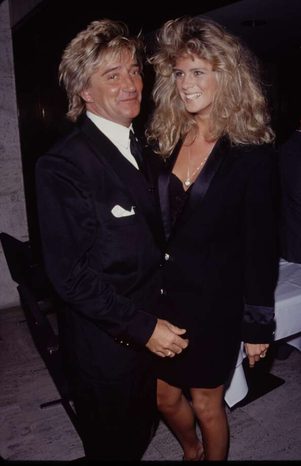 Singer Rod Stewart and Sports Illustrated model Rachel Hunter met when she was 21 (he was 24 years older). They married in 1990, separated in 1999 and divorced in 2006. Photo: Time & Life Pictures, Time Life Pictures/Getty Images