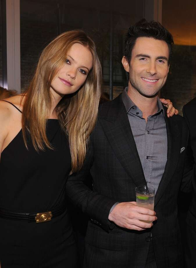 Adam Levine and Victoria's Secret model Behati Prinsloo were married in 2014. They dated from May 2012-March 2013, split and then reunited. Photo: Dimitrios Kambouris, Getty Images For GQ
