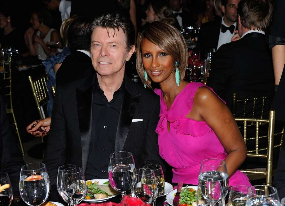David Bowie and supermodel Iman have a rocker/model relationship that is still going strong. They married in 1992. Photo: Andrew H. Walker