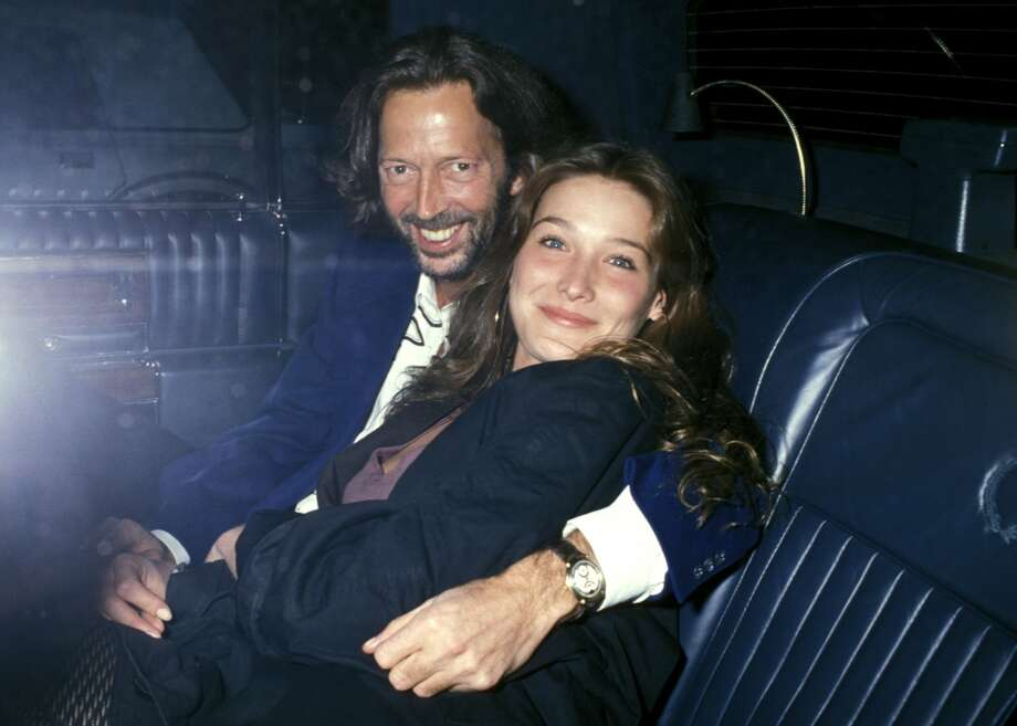 Now married to former French president Nicolas Sarkozy, model/musician Carla Bruni reportedly had an affair with Eric Clapton when she was in her early 20s. Here they are are 1989. She and Mick Jagger were also rumored to have dallied. Photo: Ron Galella, WireImage
