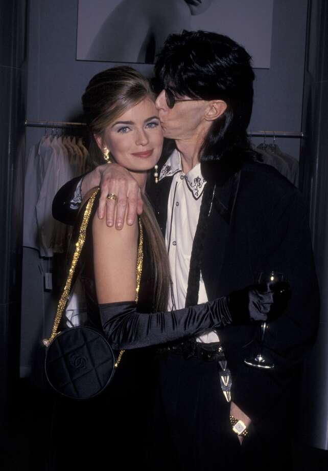Cars singer Ric Ocasek and model Paulina Porizkova married in 1989. They met in 1984 when she appeared in the Cars video for 'Drive' (she was 19, he was married). Here they are in 1990. Photo: Ron Galella, WireImage