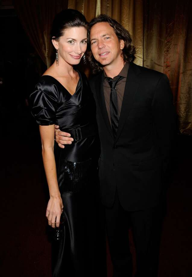 Model Jill McCormick  and Pearl Jam singer Eddie Vedder married in 2010 after many years and two daughters together. Photo: Kevin Mazur, WireImage