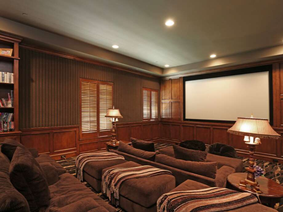 Theater for watching concert footage.  Photos via Trulia Luxe.