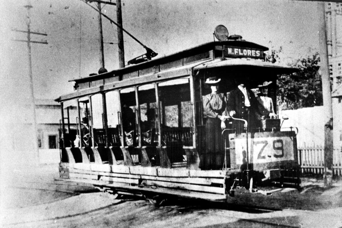 North Flores Streetcar, San Antonio, Texas (circa 1890-1900)