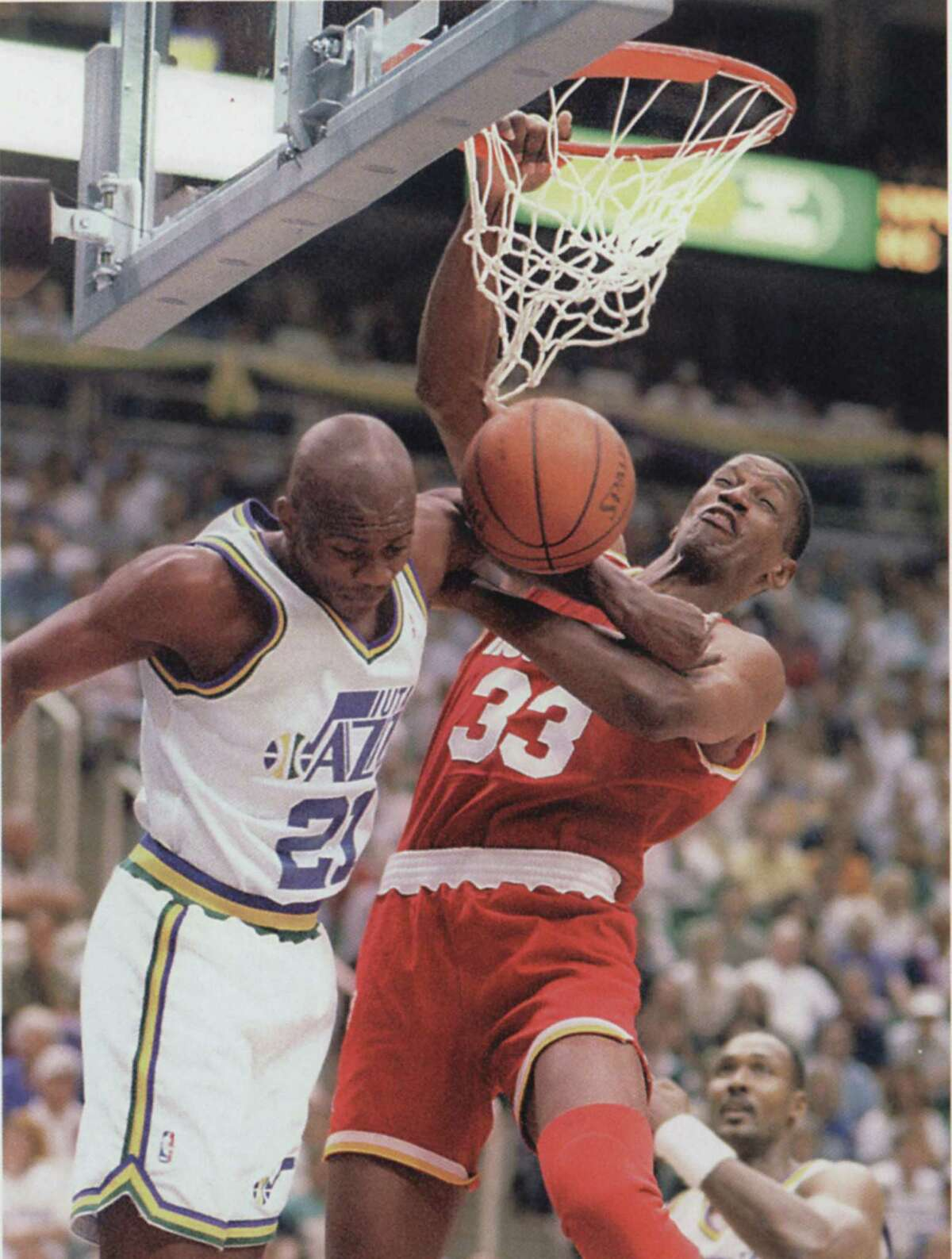 1994 Western Conference finals: Rockets 4, Jazz 1 The second-seeded Rockets blitzed the fifth-seed Jazz, winning the first two games at home before losing Game 3 in Utah. The Rockets went on to finish the Jazz at home in five games en route to their first NBA title.