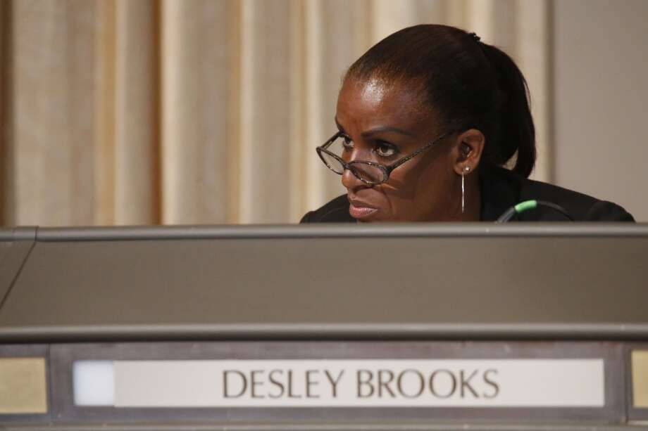 Councilwoman Desley Brooks speaks during a City Hall meeting for City Council members to vote on whether or not to censure Desley Brooks in Oakland, Calif. on July 25, 2013. Photo: Ian C. Bates, The Chronicle
