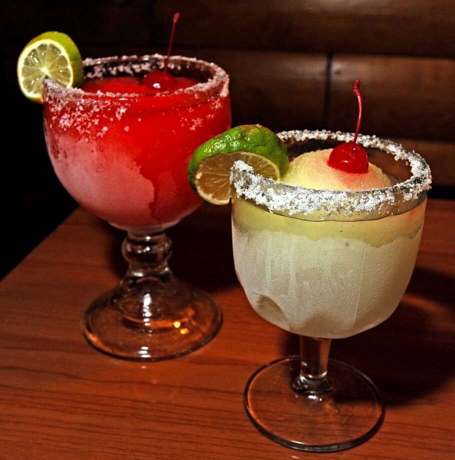 Senor Toro in Lumberton is the Cat5 Bar of the week for July 25, 2013.  Offering Happy Hour every day from 2-6 PM. Pictured is the jumbo strawberry margarita and small house margarita.  Photo taken: Randy Edwards/The Enterprise