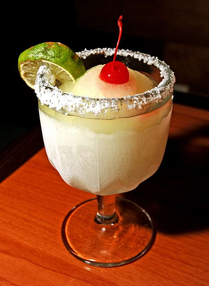 Senor Toro in Lumberton is the Cat5 Bar of the week for July 25, 2013.  Offering Happy Hour every day from 2-6 PM. Pictured is the small house margarita. Photo taken: Randy Edwards/The Enterprise