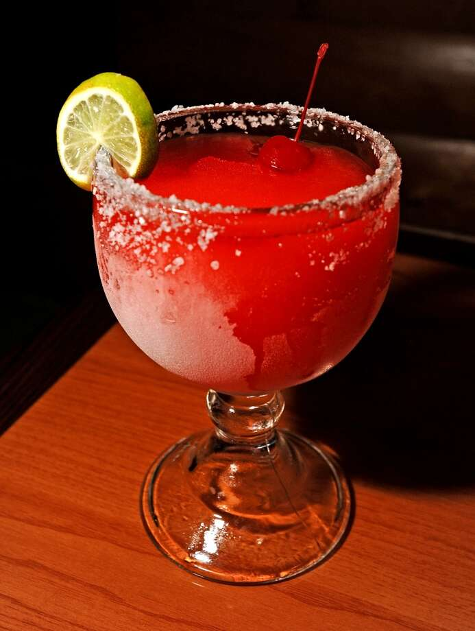 Senor Toro in Lumberton is the Cat5 Bar of the week for July 25, 2013.  Offering Happy Hour every day from 2-6 PM. Pictured is the jumbo strawberry margarita. Photo taken: Randy Edwards/The Enterprise
