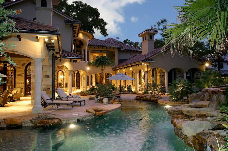 The refined backyard look  of this home in The Woodlands (list price: $3.5 million) hides a secret.