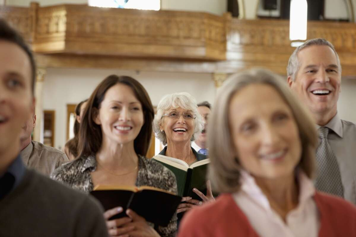 Women (27 percent) are more likely relieve stress by going to church or other religious services than men are (18 percent).