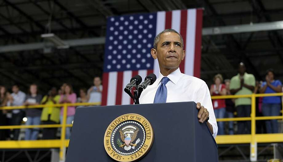 President Obama presents his new proposal at an Amazon.com plant in Chattanooga, Tenn. Photo: Susan Walsh, Associated Press