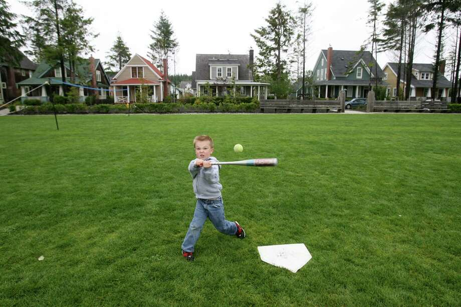 Houses at Seabrook are close to a lot of green space.  Photo: Dan DeLong, - / Seattle Post-Intelligencer