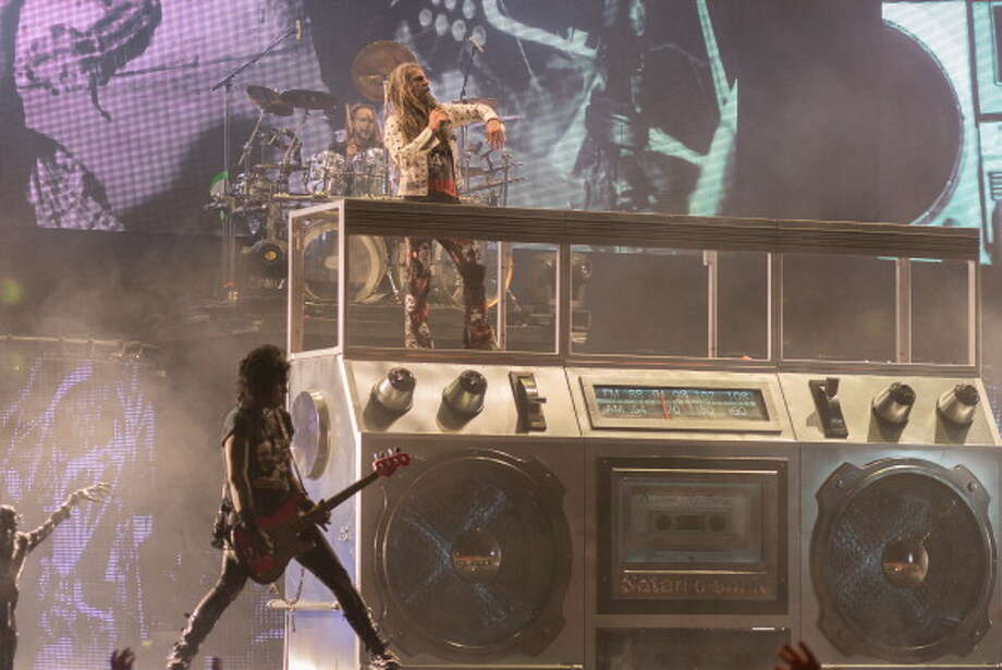 HARTFORD, CT - JULY 21:  Piggy D. and Rob Zombie perform during the Rockstar Energy Drink Mayhem Festival at Comcast Theatre on July 21, 2013 in Hartford, Connecticut.  (Photo by Mike Pont/Getty Images) Photo: Mike Pont, Getty Images / 2013 Mike Pont