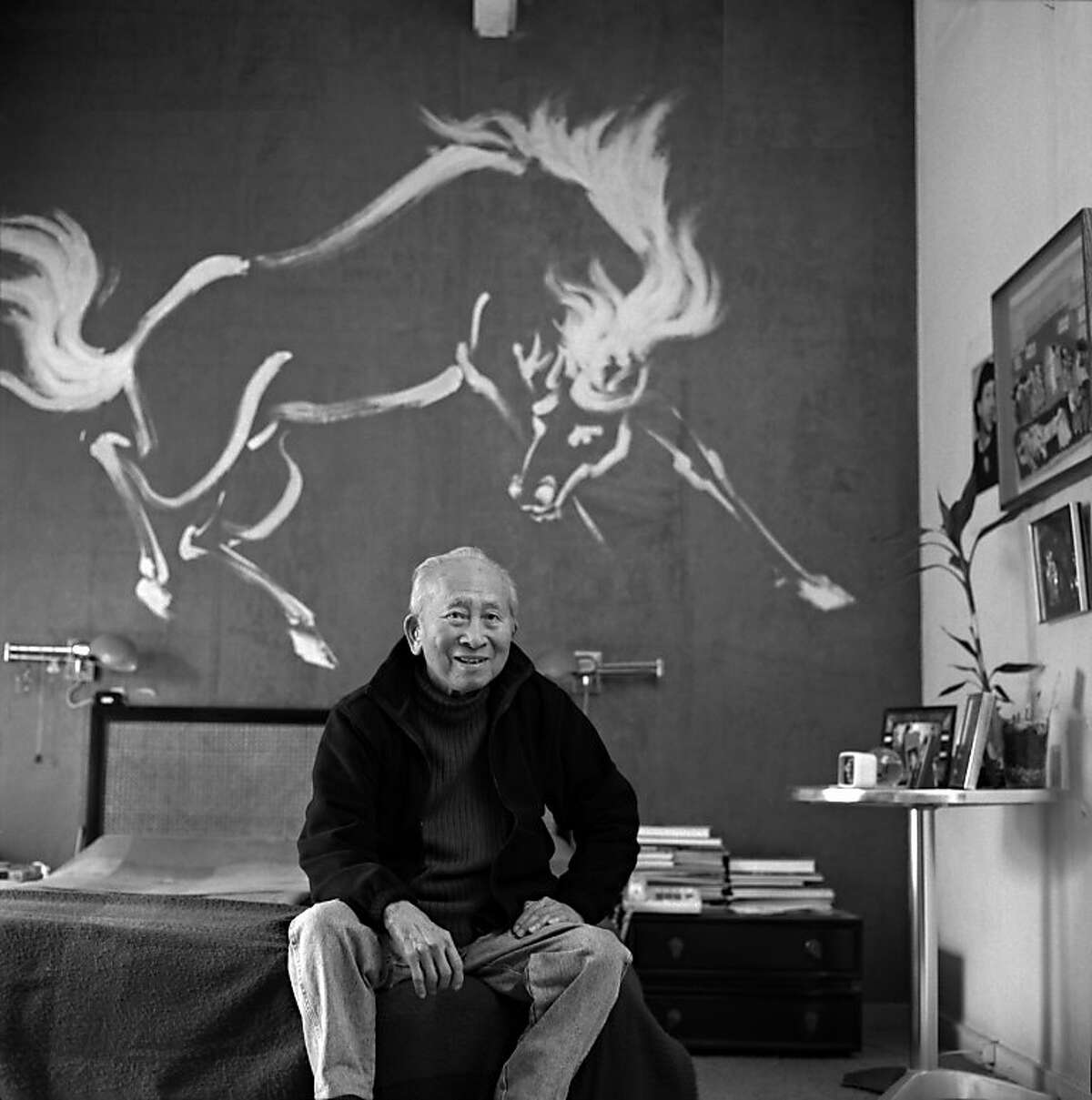 Tyrus Wong at home in 1955