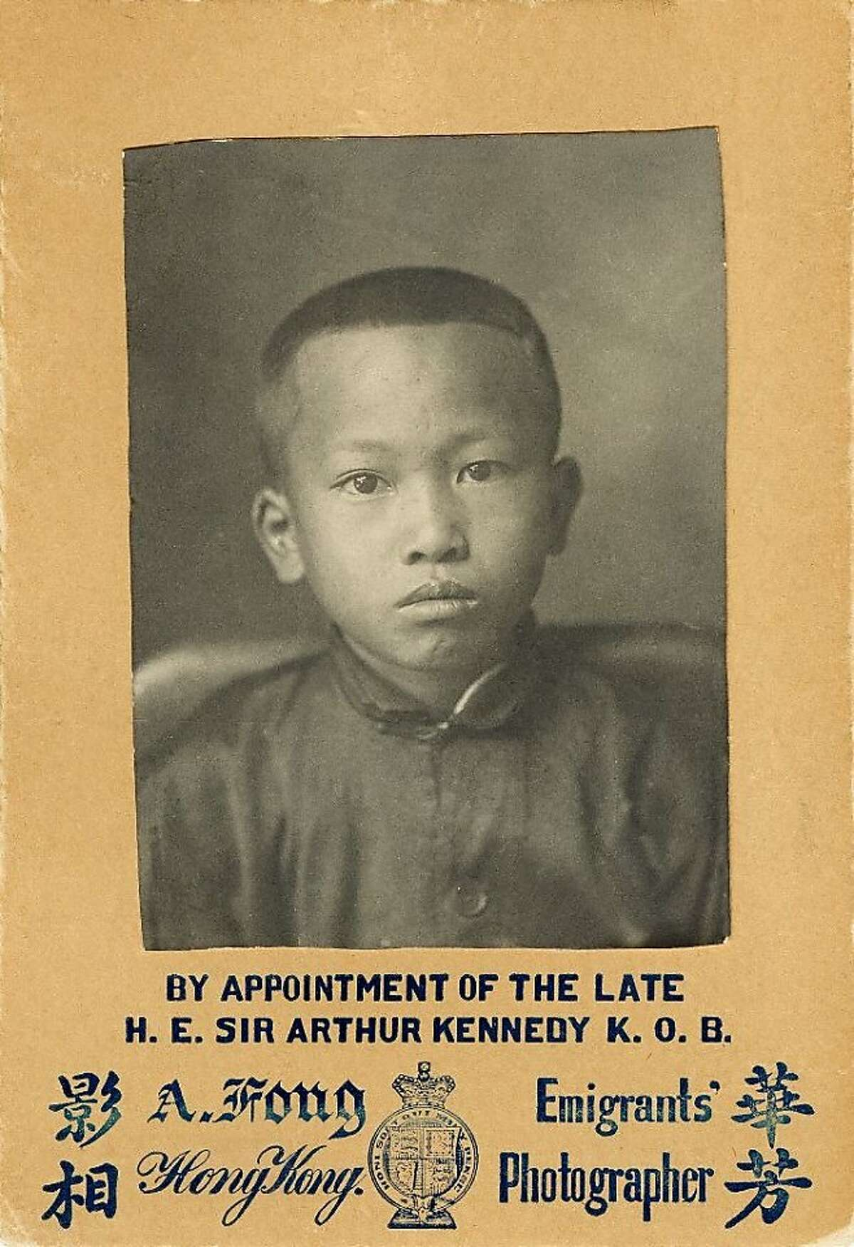 """Artist Tyrus Wong, 102, subject of an exhibition at the Walt Disney Family Museum for his work on """"Bambi."""" Pictured: his Angel Island immigration photo."""
