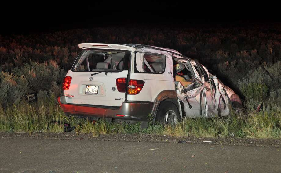 New Mexico  State Police released a  photograph of the SUV in which Texas A&M redshirt freshman defensive lineman  Polo Manukainiu was killed late Monday, July 29, 2013, along with two other  teens Photo: Courtesy