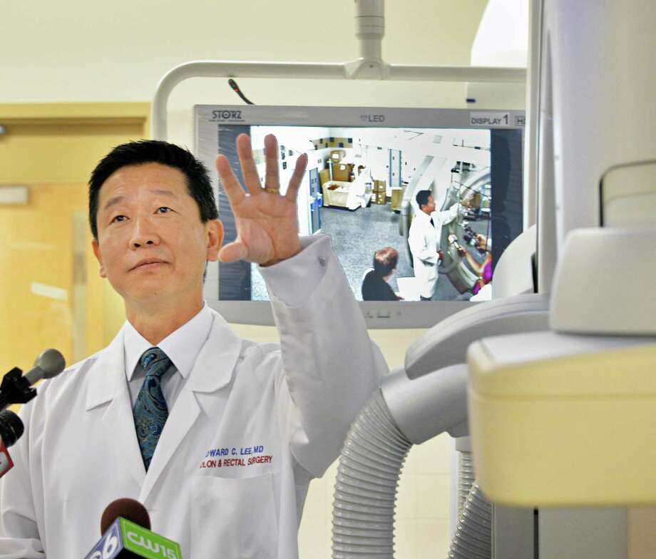 Dr. Edward Lee shows a tour around a new hybrid operating room in Albany Medical Center's new state of the art Patient Pavilion Tuesday July 30, 2013, in Albany, N.Y.  (John Carl D'Annibale / Times Union) Photo: John Carl D'Annibale / 00023330A