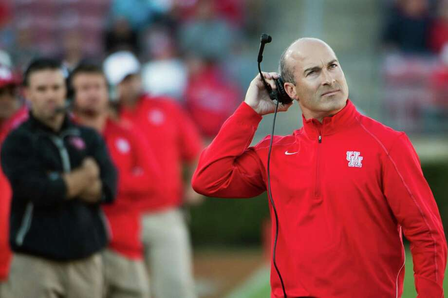 After a rough start to his head coaching tenure concluded with a 5-7 record in 2012, Tony Levine hopes for a fresh start as the Cougars begin play in a new conference. Photo: Smiley N. Pool, Staff / © 2012  Houston Chronicle