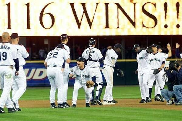 2001: Mariners tie MLB-record 116 wins The 2001 Mariners were one of the best teams Major League Baseball had ever seen. They sent eight players to the All-Star Game -- which, by the way, was held at Safeco Field -- including rookie sensation Ichiro Suzuki. The star-studded Mariners won their 116th game on the second-to-last day of the regular season, tying the MLB record, and were a clear favorite for reaching the World Series. However, in the playoffs, even after beating the Indians in the ALDS, the M's lost to those damn Yankees in the ALCS and became the best baseball team to never reach the Fall Classic.