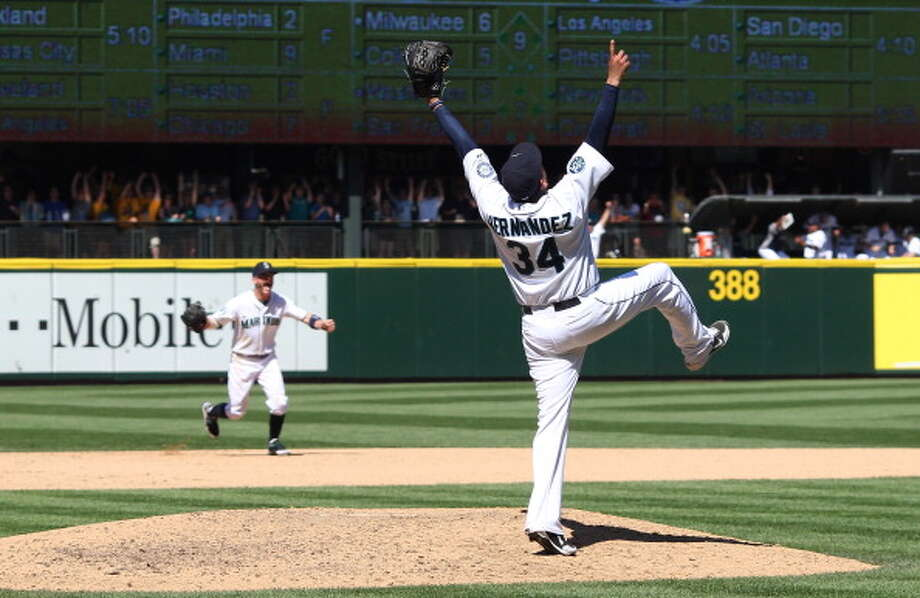 2012: Felix Hernandez throws perfect gameMariners pitcher Felix Hernandez had already earned a place in the history books as the 2010 A.L. Cy Young winner, but he pulled off an even more impossible feat when he threw a perfect game Aug. 15, 2012, against the Tampa Bay Rays at Safeco Field. ''King Felix'' recorded 12 strikeouts and never allowed an opponent on base in the 1-0 victory, cementing himself in baseball lore as just the 23rd pitcher and the first-ever Mariners hurler to toss a perfect game. Photo: Otto Greule Jr, Getty Images / 2012 Getty Images