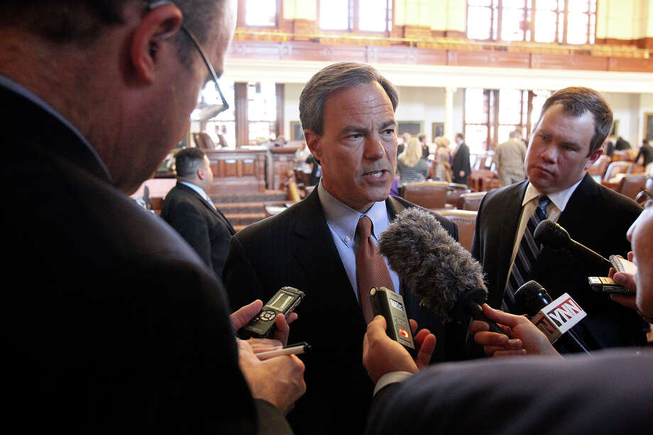 Speaker Joe Straus answers questions after legislators meet in the House of Representatives to begin the third special session on July 30, 2013. Straus is being challenged by two opponents in the 2016 GOP primary.  Photo: TOM REEL