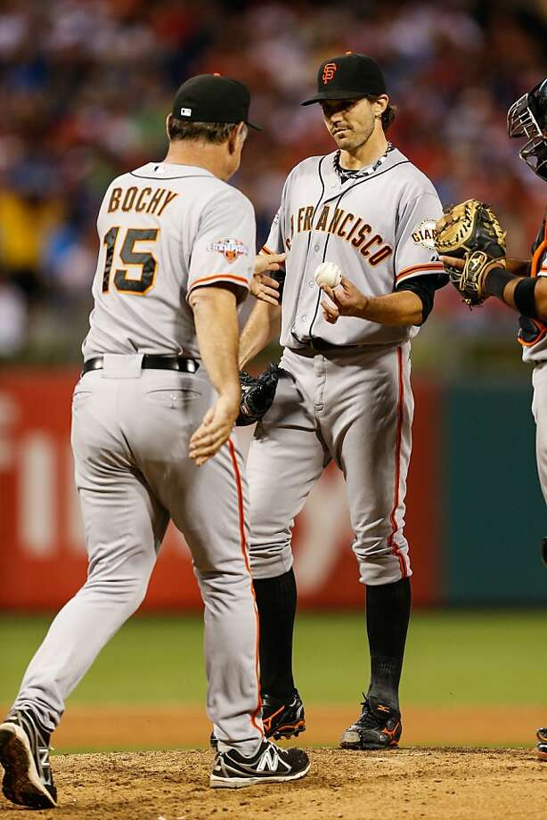 Barry Zito, who has not won on the road in 2013, allowed four runs and was yanked in the fourth by Bruce Bochy. Photo: Brian Garfinkel, Getty Images